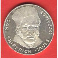 Германия (ФРГ) 5 марок 1977 года Карл Фридрих Гаусс. Серебро