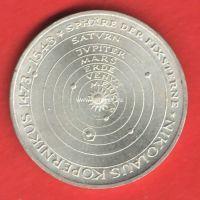 Германия (ФРГ) 5 марок 1973 года Николай Коперник. Серебро