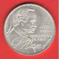 Германия (ФРГ) 5 марок 1974 года Иммануил Кант. Серебро