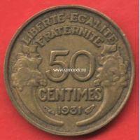 Франция 50 сантимов 1931 года.