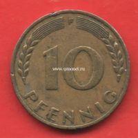 Германия 10 пфеннигов 1949 год