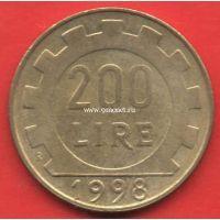 Италия 200 лир 1998 года