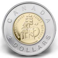 Канада 2 доллара 2011 года. Северный лес