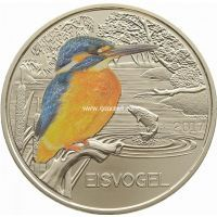 Монета Австрии 3 евро 2017 года Зимородок