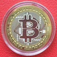 Сувенирная монета 10 рублей Биткоин