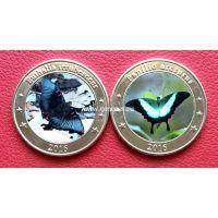 Зондские острова 1 доллар 2016 года Бабочки