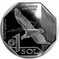 Перу 1 соль 2017 года Андский кондор.