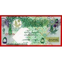 Катар банкнота 5 риалов 2008 года