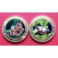 Зондские острова 1 доллар 2017 года Бабочки