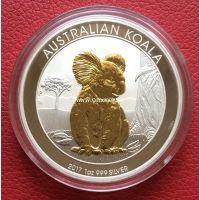 Монета Австралии 1 доллар 2017 года коала