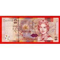 Багамские Острова банкнота 3 доллара 2019 года Парусники