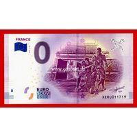 Банкнота 0 евро 2018 года Франция чемпионы мира по футболу.