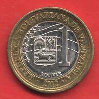 Венесуэла монета 1 боливар 2012 года.