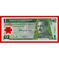 Гватемала банкнота 1 кетцаль 2006 года. (полимер)