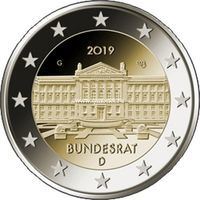 Германия 2 евро 2019 Бундесрат