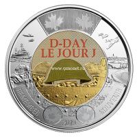 Канада 2 доллара 2019 года 75 лет Высадки в Нормандии D-DAY.