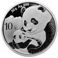 Китай 10 юаней 2019 Панда серебро