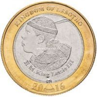 Лесото 5 малоти 2016 года 50 лет независимости.