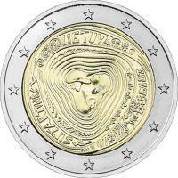 Литва 2 евро 2019 года Литовские народные песни.
