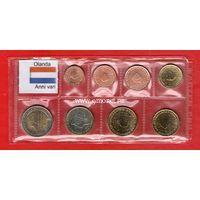 Нидерланды годовой набор евро монет. (MIX)