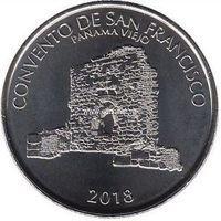 Панама 1/2 бальбоа 2018 Монастырь святого Франциска.