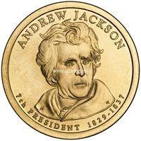 США 1 доллар 2008 года 7 президент Эндрю Джексон