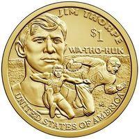 США 1 доллар 2018 года Джим Торп (P - Филадельфия)