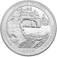 США 25 центов 2018 года 42 Национальный парк P