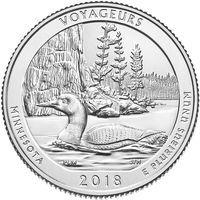 США 25 центов 2018 года 43 Национальный парк P