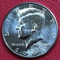 США 50 центов 2001 года Кеннеди Half Dollar D - Денвер