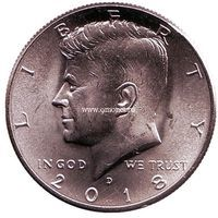 США 50 центов 2018 года Кеннеди Half Dollar D - Денвер