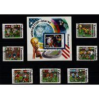 Танзания набор марок. Чемпионат Мира по футболу 1994 США (гашеные)