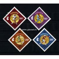 Танзания набор марок 1996 года XXVI Олимпийские игры Атланта.