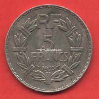 Франция монета 5 франков 1933 года