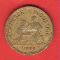 Франция 2 франка 1922 года.