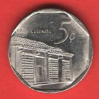 Куба монета 5 сентаво 2000 года.