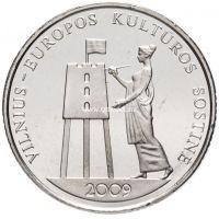 Литва 1 лит 2009 года Вильнюс культурная столица Европы.