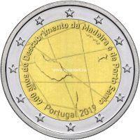 Португалия 2 евро 2019 года 600 лет открытия острова Мадейра.