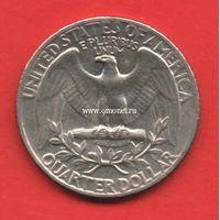 США 25 центов 1966 года Джордж Вашингтон