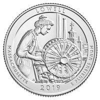 США 25 центов 2019 года 46 парк Национальный парк Лоуэлл.