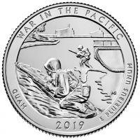 США 25 центов 2019 года 48 парк Монумент доблести (S — Сан-Франциско)