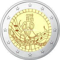 Эстония 2 евро 2019 года 150 лет первого фестиваля песни