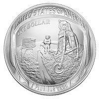 США 1 доллар 2019 года Аполлон 11 серебро