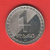 Грузия монета 1 лари 2006 года.