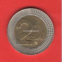 Грузия монета 2 лари 2006 года.