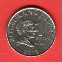 Филиппины монета 1 песо 2011 года.