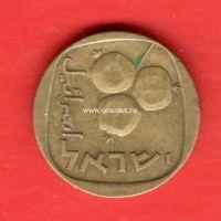 Израиль монета 5 агорот 1961 года.