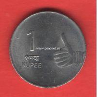 Индия монета 1 рупия 2009 года.