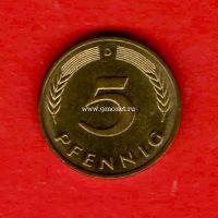 Германия монета 5 пфеннигов 1994 года. D