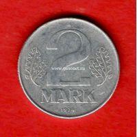 Германия (ГДР) монета 2 марки 1974 года.